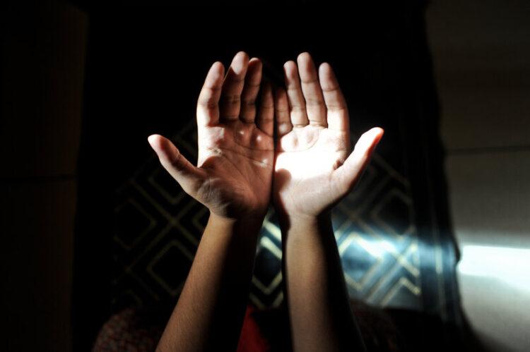 hands open to God